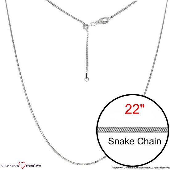 "Snake Adjustable Designer Silver  Chain Jewelry 22"""