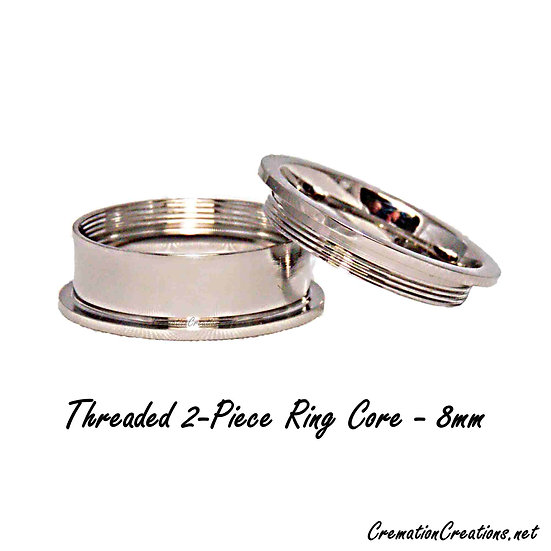 Threaded 2-Piece Ring Core - 8mm