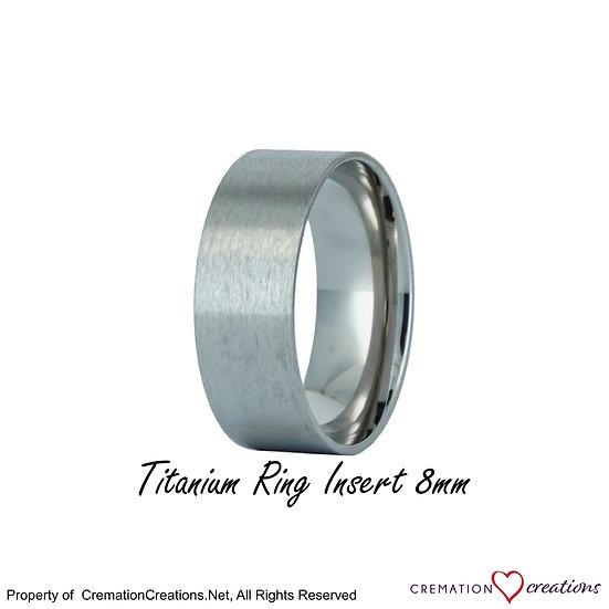 Titanium Ring Core  insert  -   8mm