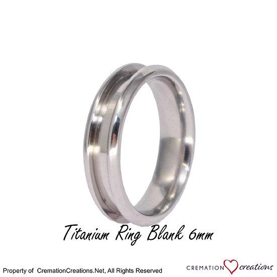 Titanium Ring Core Blank  -  6mm