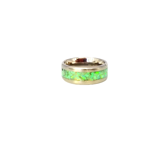 Cremation Jewelry - Ring - Lime Green