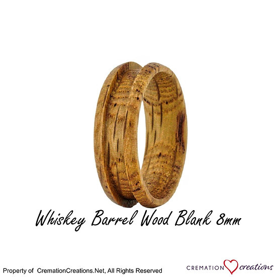 Whiskey Barrel Ring Blank  -  8mm