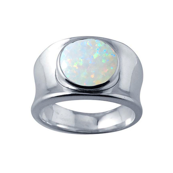 Cremation Signet Ring 925 Sterling Opal Ring