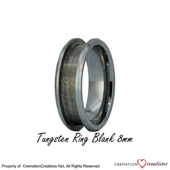 Tungsten Ring Core Blank -  8mm