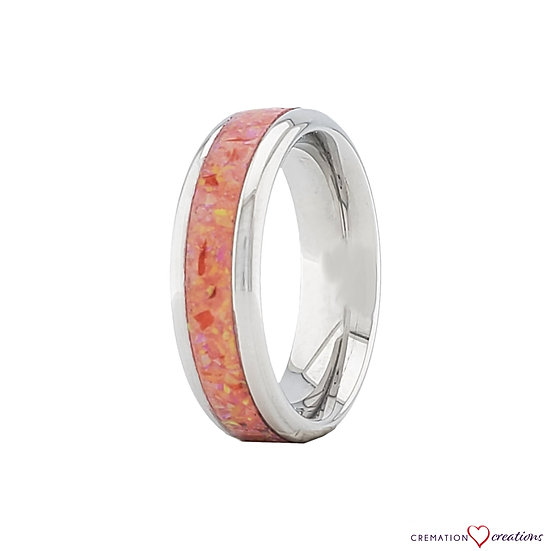 Cremation Jewelry - Ring - Carmine Opal OP 23