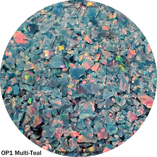 Crushed opal for inlay - Multi teal