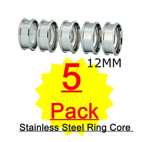 Bulk Ring Core Blanks  - 12mm  -  5 pack