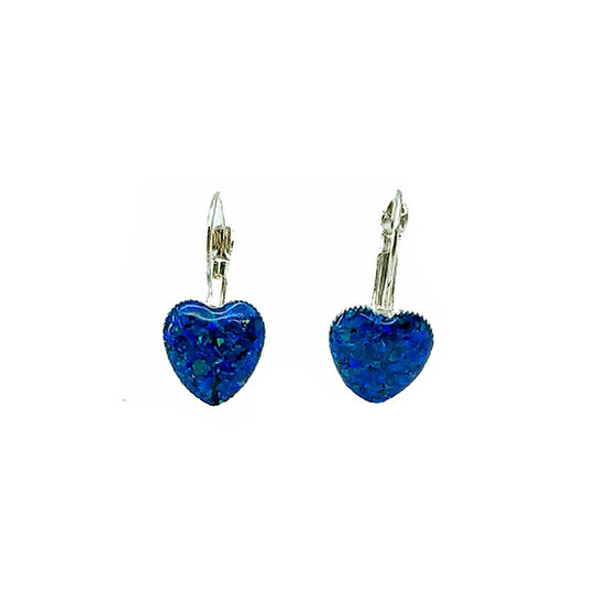 Cremation Heart Dangling Earrings