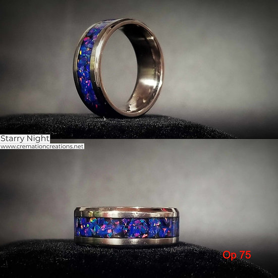 Cremation Ring Starry Night OP75