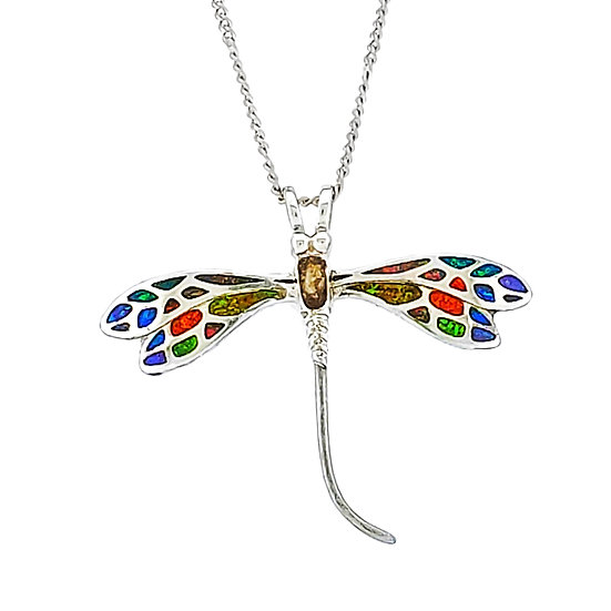 Cremation Dragonfly pendant