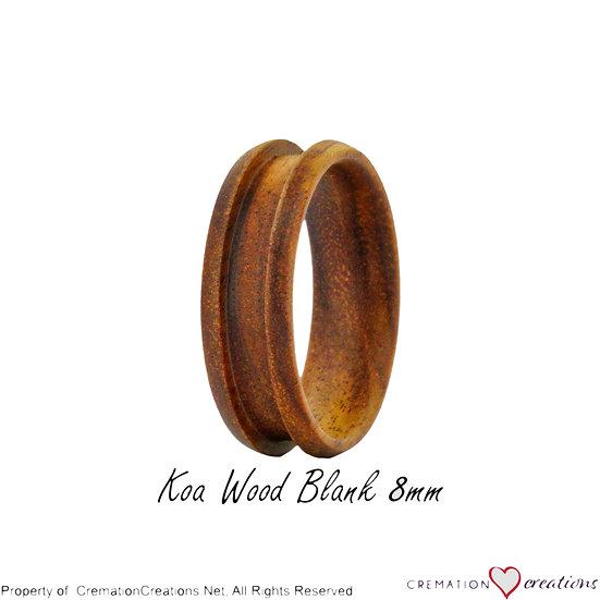 Koa Wood Ring Blank  -   8mm