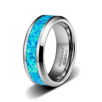 Cremation Ring Tungsten OP14