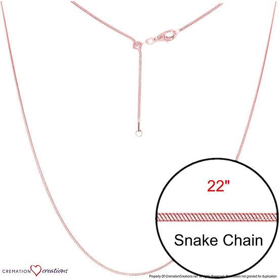 "Snake Adjustable Designer Rose Gold  Chain Jewelry 22"""