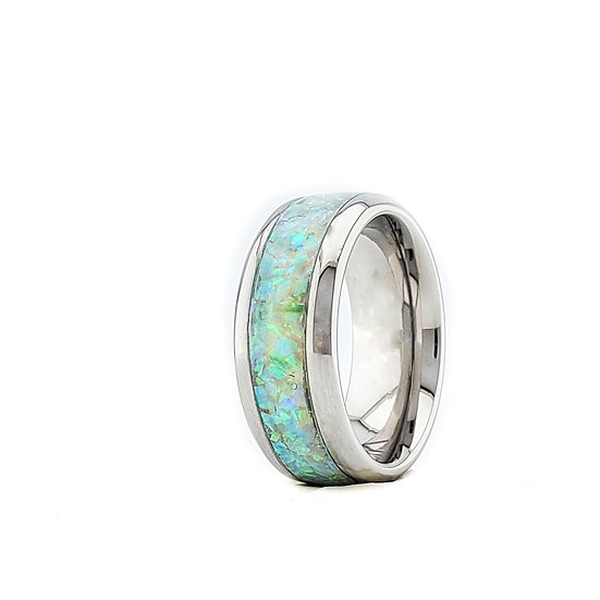 Cremation Jewelry - Ring - Mint Green Opal  OP 72