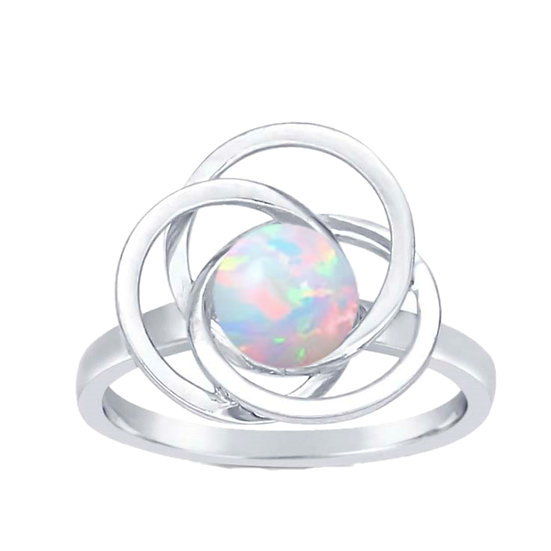 Cremation Sterling Silver Universe Opal Ring