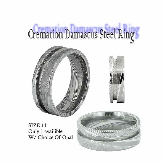 Cremation Damascus Ring