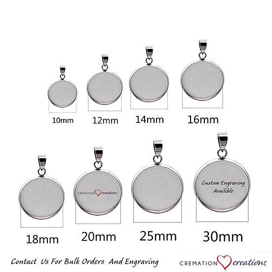 Stainless Steel Blanks Pendant Base Settings Engraving