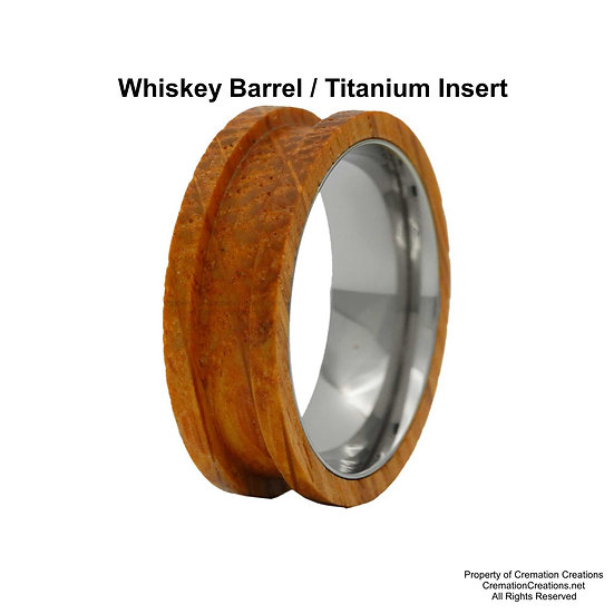 Whiskey Barrel Blank with Titanium Free Box And Engraving