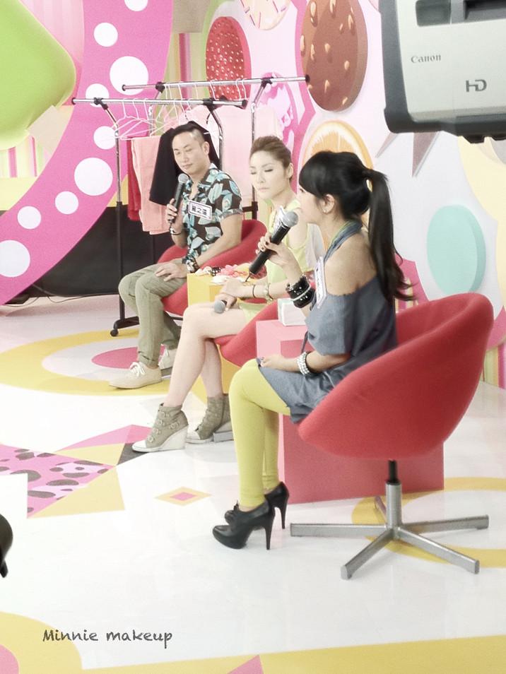 MTV台 時尚小魔女 節目錄影-By Minnie Makeup