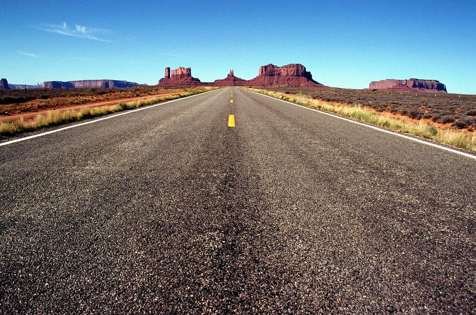 Weg van de woestijn
