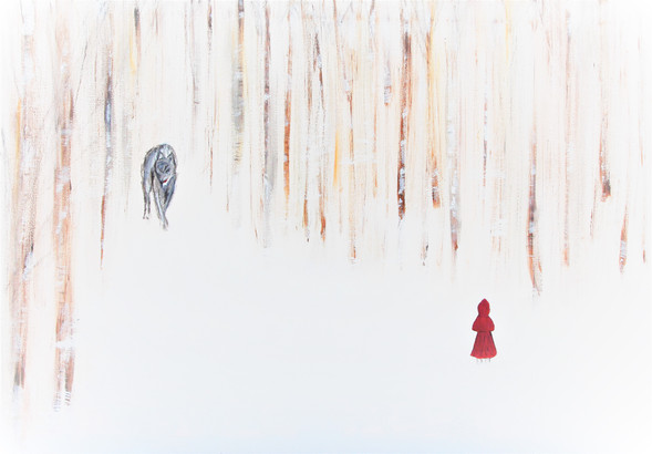Little Red Riding Hood Painting quick ed