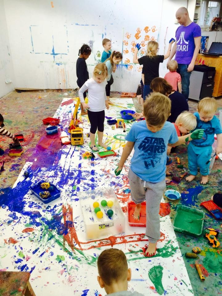 Collaborative Messy Painting