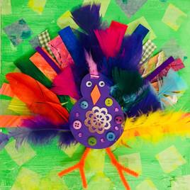 Bird Collage Canvas