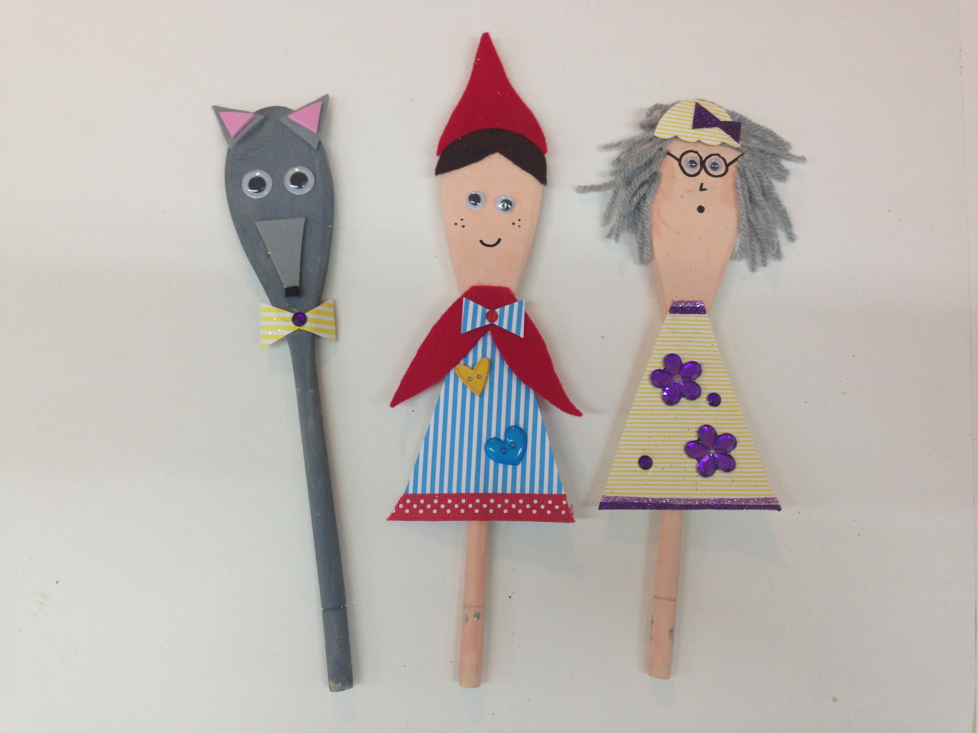 Little Red Riding Hood Spoon Puppets