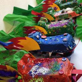 Dragon Egg Carton Puppet