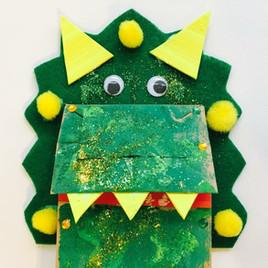 Dinosaur Paper Bag Puppet