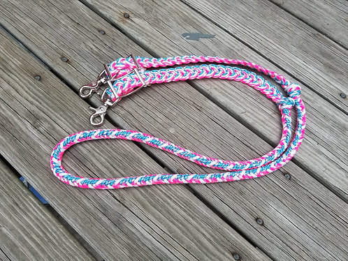 Custom Round Braid Barrel Reins