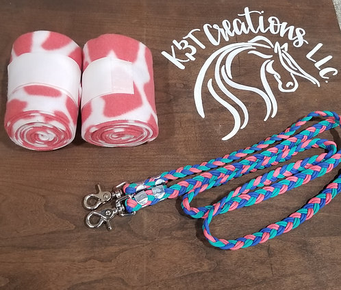 Pink Giraffe Polos and Reins
