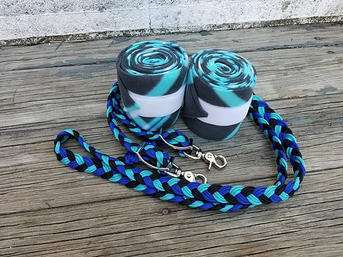 Blue Plaid Polo Set