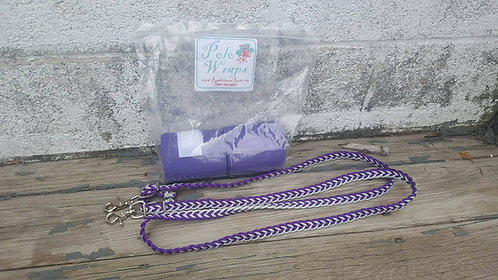 Purple Polos and Reins Set
