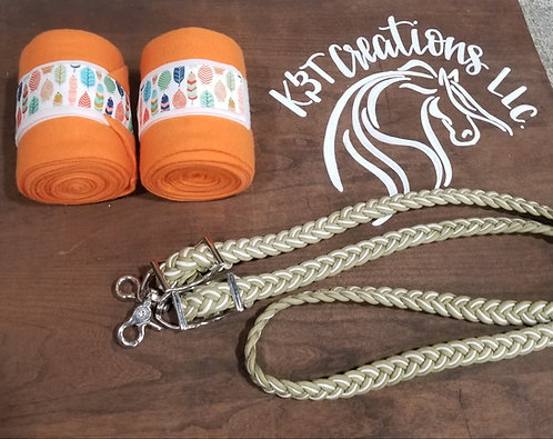 Orange Feather Polos and Reins