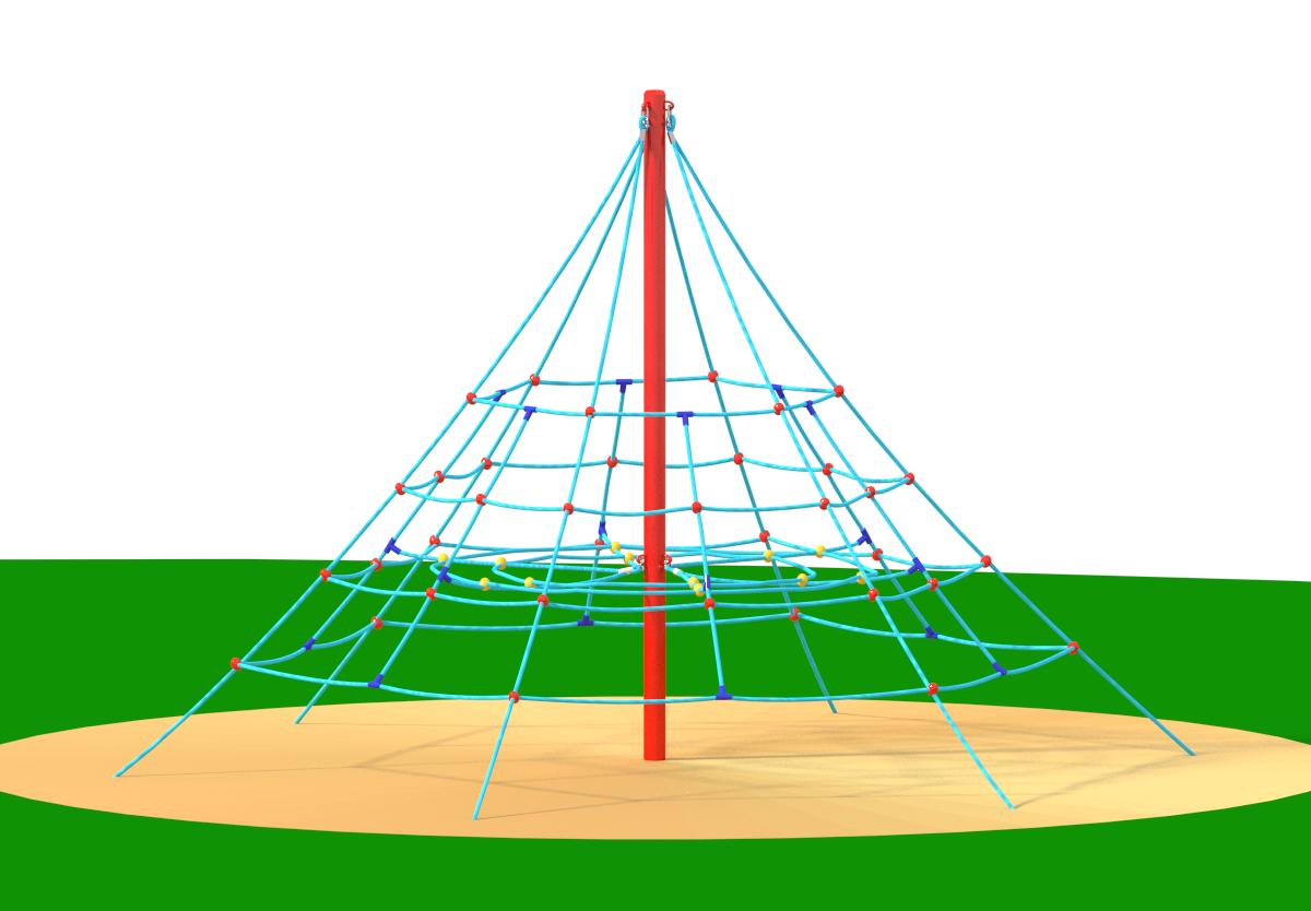 Piramida - Linearia na place zabaw Facto