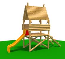 Domek - Wieża, slizgawka na certyfikowane place zabaw Agencja dzieciak Kwiatkowsky Szczeci