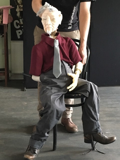 Trying a different puppet for Henry...