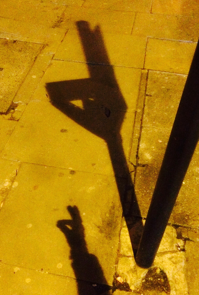 Sign post shadow puppet