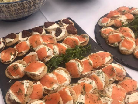 Canapés for a Christening