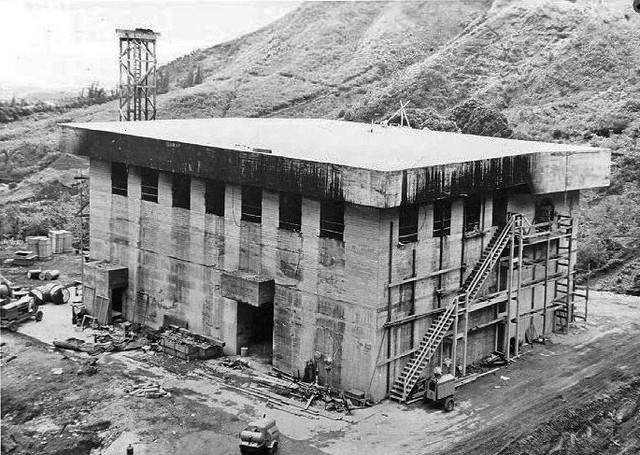 Exterior of Transmitting Building Following Fire (From U.S. Coast Guard Omega Station Records 4-29-43)