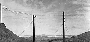 Antennae across Ha'ikū Valley