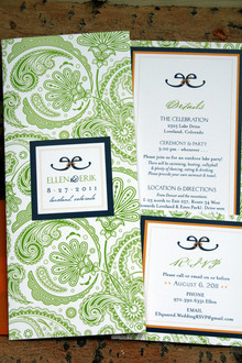 Wedding Invitation Suite – Invite, info card and RSVP card.