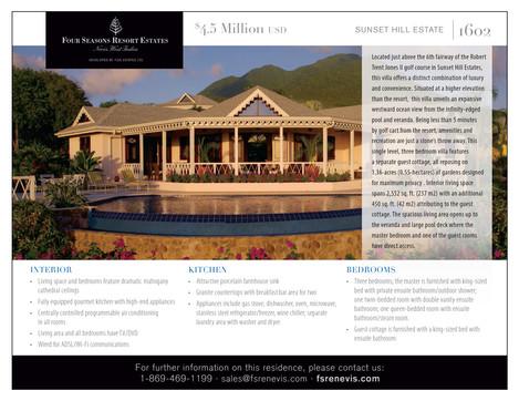 The Four Seasons Resort, Nevis, West Indies