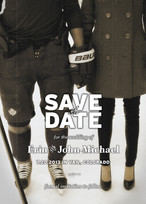 Save The Date card for wedding