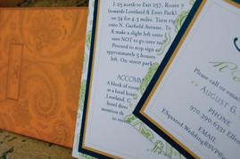 Wedding Invitation Suite - Close ups.