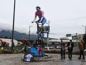 Estatua en honor a Richard Carapaz estará en el Redondel del Ciclista, Quito