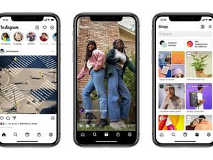 Instagram sumó nuevas pestañas para Reel y Shop para facilitar el descubrimiento de nuevo contenido