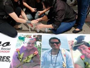 Cuerpos hallados en Colombia corresponden a periodistas ecuatorianos