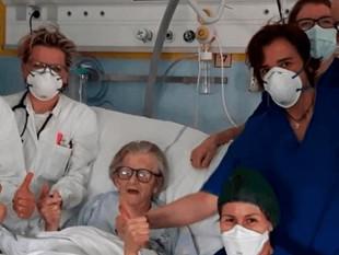 Mujer de 95 años supera el coronavirus en Italia y se convierte en la luz de la esperanza para el mu
